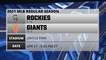 Rockies @ Giants Game Preview for APR 27 -  9:45 PM ET