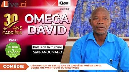 Extrait video :Célébration de ses 30 ans de carrière, Oméga David donne un avant-goût du spectacle