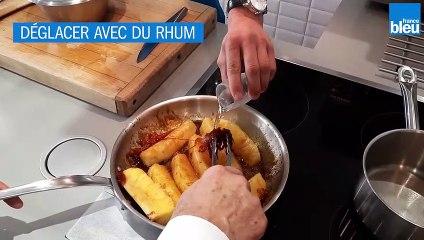 RECETTE : Ananas roti, avec coulis aux fruits de la passion