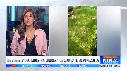 Video muestra a guerrillero ordenando recoger cuerpos que serían de militares venezolanos en Apure