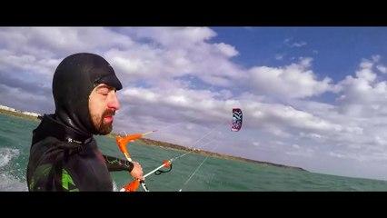 Snow Kite Surfing