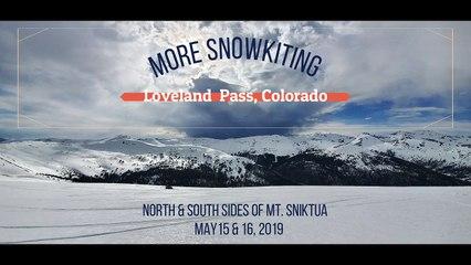 Snow kiting(kiteboarding) - Loveland Pass, Colorado