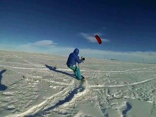 Strapless Kiteboarding - On Snow