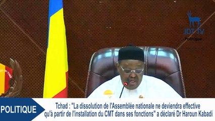 Dr HAROUN KABADI parle de la dissolution de l'Assemblée Nationale