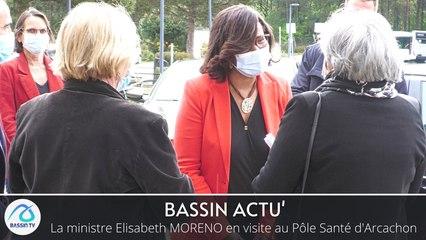 La ministre Elisabeth MORENO en visite au Pôle Santé d'Arcachon