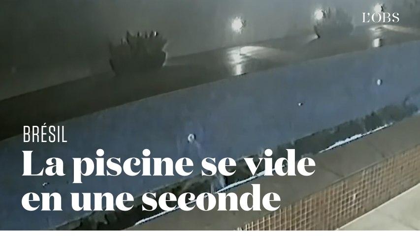 Une piscine s'effondre et se vide en une seconde
