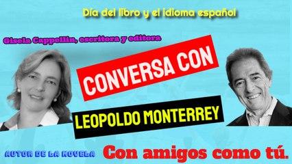 Día del libro y el idioma español. Gisela y Leopoldo conversan sobe su novela