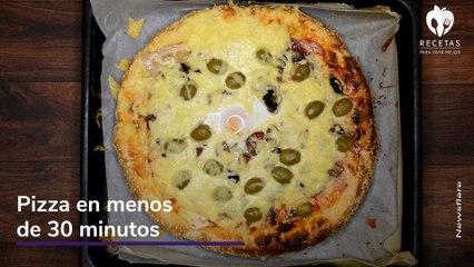 ¡Prepara esta pizza en minutos!