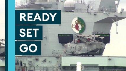 CARRIER STRIKE- HMS Queen Elizabeth Prepares For MAIDEN DEPLOYMENT