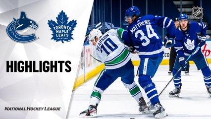 Canucks @ Maple Leafs 5/1/21   NHL Highlights