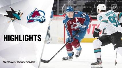 Sharks @ Avalanche 5/1/21   NHL Highlights
