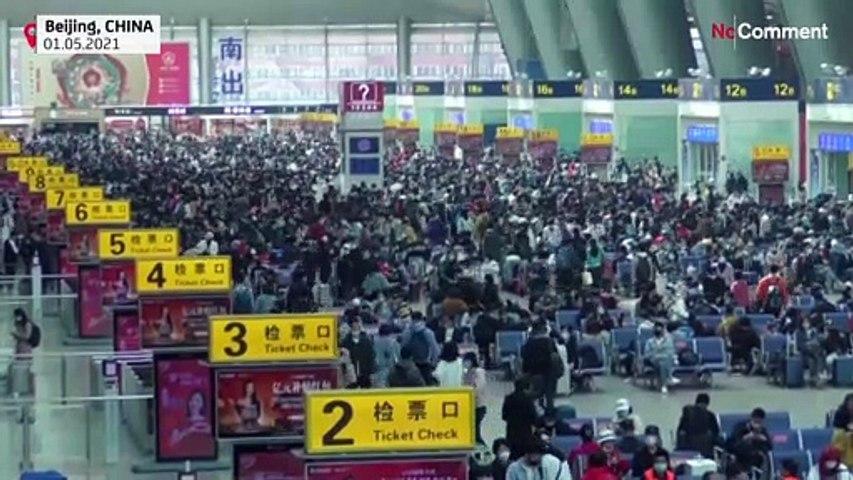 شاهد: اكتظاظ في المحطات وازدحام في المناطق السياحية خلال يوم عيد العمال في الصين