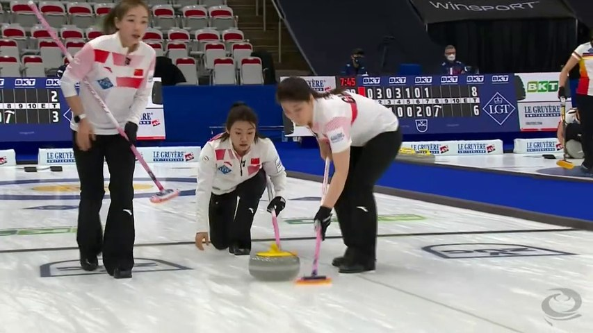 CHINA vs JAPAN - World Curling Championships 2021