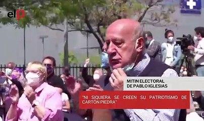"""Pablo Iglesias, sobre el comentario desafortunado de Ayuso: """"Ni siquiera se creen su patriotismo de cartón piedra"""""""