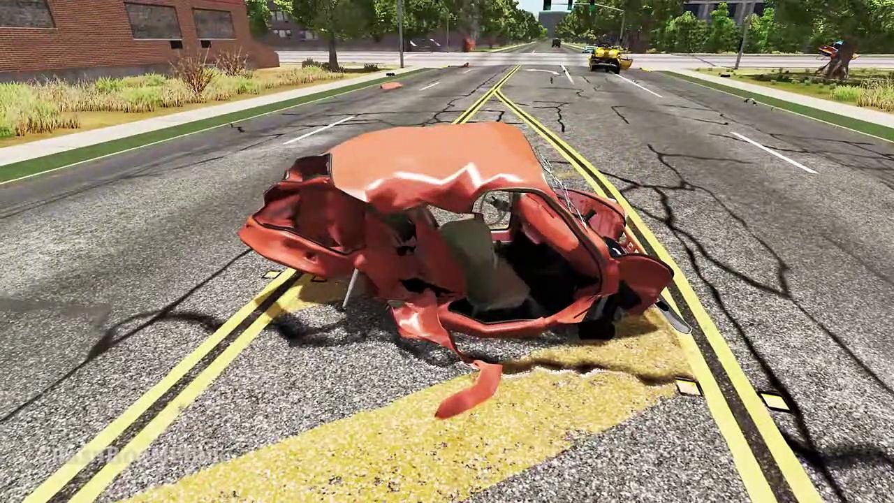 High Speed Traffic Crashes #85 – Beamng Drive | Crashboompunk