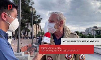 """Asistente al mitin de Vox: """"soy franquista, antes que de Vox"""""""