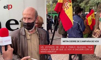 """Un votante de Vox a Pablo Iglesias: """"Que venga a por mí que le voy a sacudir con la mano abierta"""""""