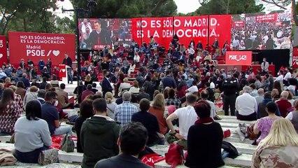 Pedro Sánchez en el cierre de campaña de las elecciones del 4 de mayo