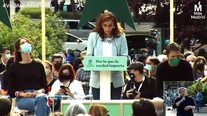 Mónica García en el acto de cierre de campaña