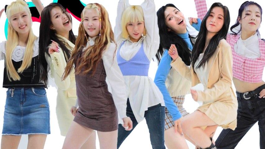 Kpop Girl Group PURPLE K!SS Are Amazing Dancers! | TikTok Challenge Challenge | Cosmopolitan