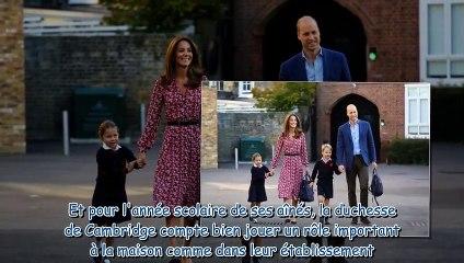 Kate Middleton - la réunion -secrète- à l'école de George et Charlotte à laquelle elle a participé