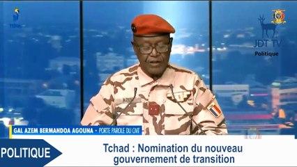 Nomination du nouveau gouvernement de transition du Tchad
