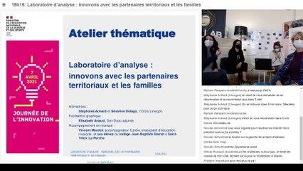 « Laboratoire d'analyse : innovons avec les partenaires territoriaux et les familles »,