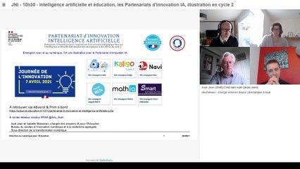 atelier 8 : « Intelligence artificielle et éducation, les Partenariats d'innovation IA, illustration en cycle 2 . »