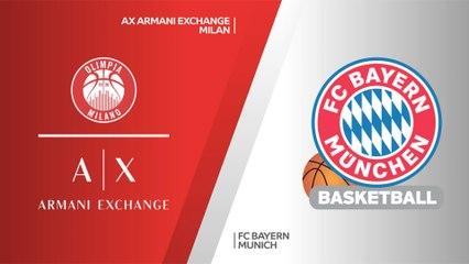 EuroLeague 2020-21 Highlights Playoffs Game 5 video: Milan 92-89 Bayern