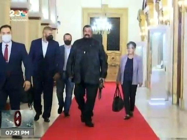 Pdte. Maduro se reúne con famoso actor norteamericano Steven Seagal en Miraflores