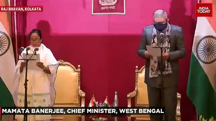 Mamata Banerjee sworn-in as Bengal CM for third time, takes oath in Bengali