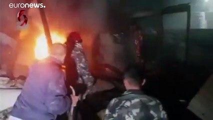 فيديو للدمار الذي خلّفته الغارة الجوية على اللاذقية في سوريا فجر اليوم