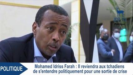 MOHAMED IDRISS FARA s'exprime sur la sotie de crise au Tchad