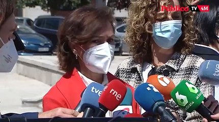"""Carmen Calvo reconoce la derrota """"sin ambages"""" del PSOE"""