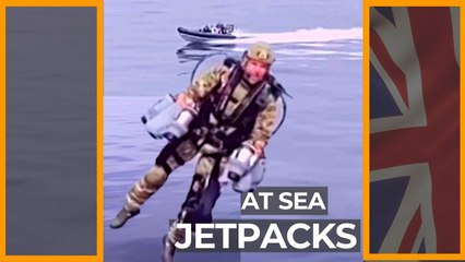 UK Royal Marines test jetpacks at sea