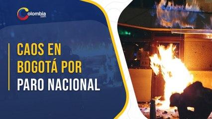 16 CAI fueron incinerados por manifestantes del Paro Nacional del 4 de mayo en Bogotá