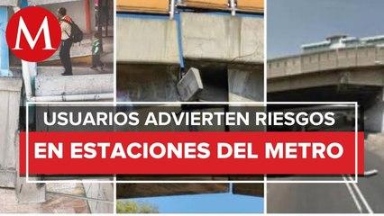 ¡Le urge mantenimiento al Metro de CdMx! Pasajeros difunden fotos de estaciones en mal estado