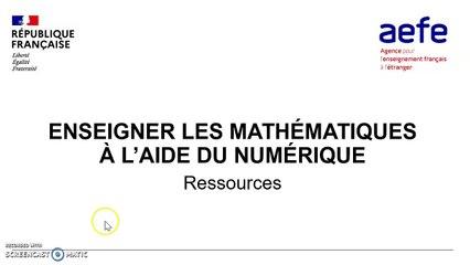 M9 Bloc 3 Enseigner les Mathématiques à l'aide du numérique