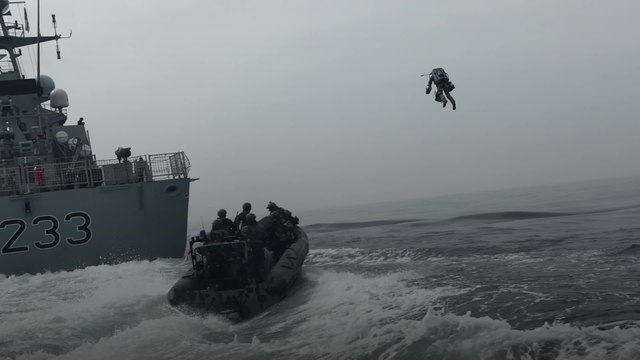 British Marines test fly incredible jet suits