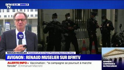 """Avignon: Renaud Muselier salue la police, """"un grand corps (...) ils ne baissent pas les bras"""""""