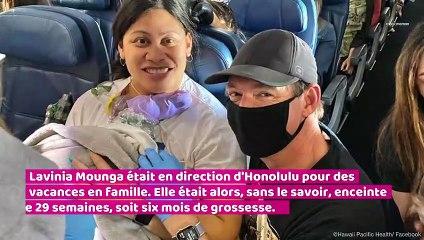 Une femme accouche dans un avion sans savoir qu'elle était enceinte !