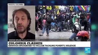 Colombia clashes: Demands broadened to include tackling poverty, violence