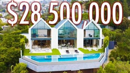 Inside A $28.5M Hollywood Hills Farmhouse Mansion