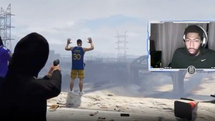 "Anthony Davis Very Excited About EXECUTING ""Steph Curry"" While Playing GTA Online"