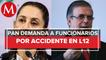 PAN denuncia ante FGR a Ebrard y Sheinbaum por accidente en L12 del Metro