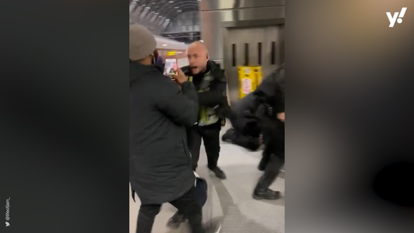 British Transport Police respond to video of 'brute force' arrest of boy, 16, at Kings Cross station