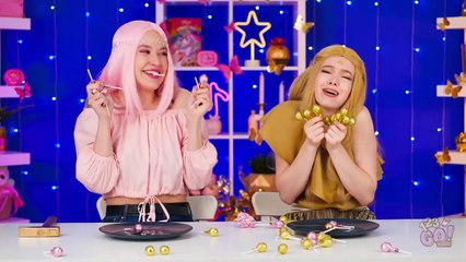 GOLD VS PINK FOOD CHALLENGE Eating Only One Color Food For 24 Hours! Mukbang by 123 GO! FOOD