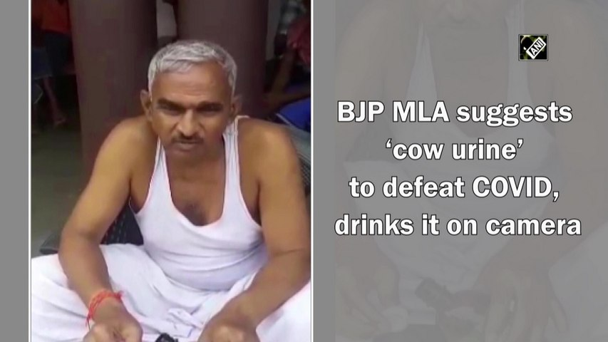 BJP MLA suggests 'cow urine' to defeat Covid-19, drinks it on camera