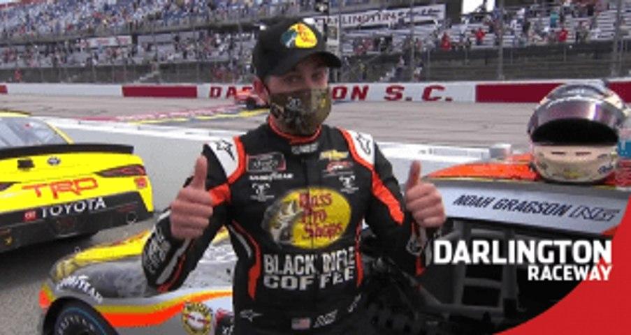 Noah Gragson wins Dash 4 Cash for third race in a row