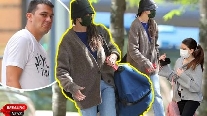 Katie Holmes was discovered luggage leave Vitolo Jr's house, and was waiting outside by daughter